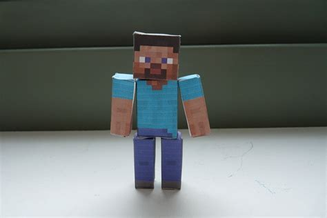Papercraft Minecraft Steve - shoopsoldier stuff minecraft papercraft steve