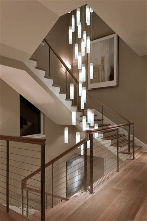 Hanging Lights For High Ceilings Tanzania Chandelier Contemporary Living Room Stairwell Light Fixture Contemporary