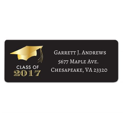 graduation labels template free search results for address return labels template free