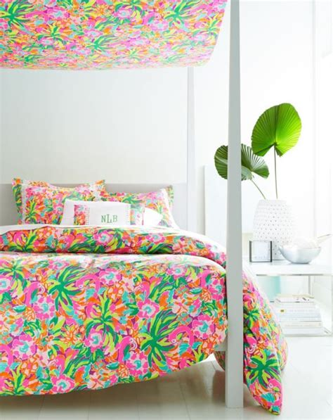 lilly pulitzer inspired bedroom lilly pulitzer sister florals duvet cover collection by