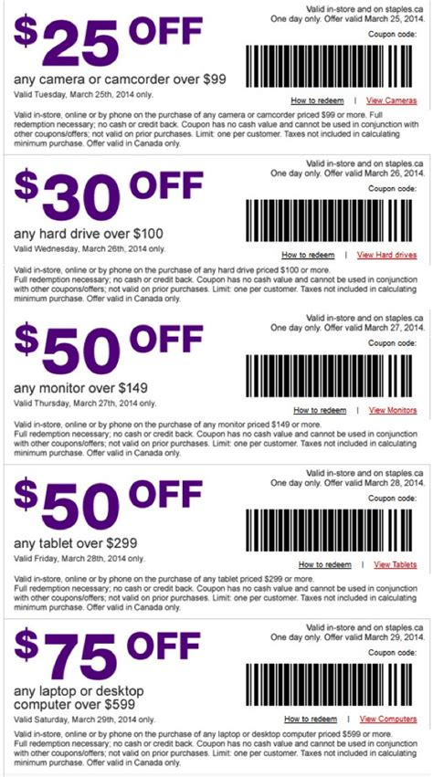 printable grocery coupons on ipad staples 5 days of deals get 50 off your ipad on march 28