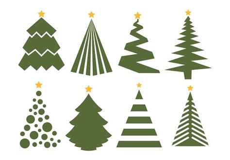 christmas tree vector set on white background download