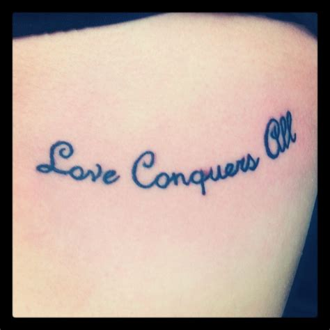 love conquers all latin tattoo designs conquers all dec