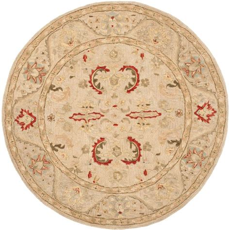 6 ft area rugs safavieh anatolia beige 6 ft x 6 ft area rug an570a 6r the home depot