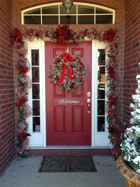 christmas garland  front doors yahoo image search