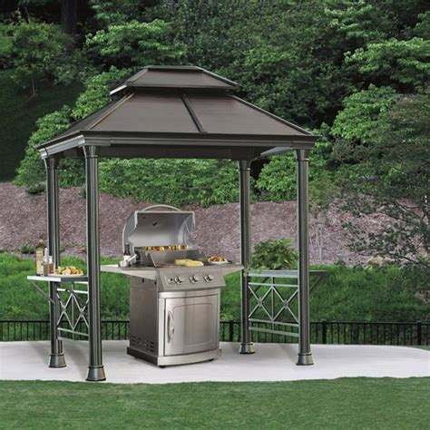 barbeque gazebo sunjoy steel bbq gazebo gazeboss net ideas designs