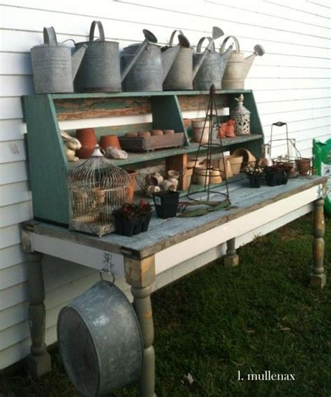old door potting bench party junk 186 potting benches to die for legs and plants