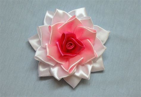 fiori di stoffa kanzashi diy kanzashi tutorial how to make ribbon