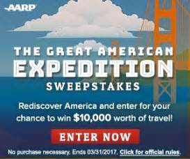 aarp 2017 travel sweepstakes i crave freebies - Aarp Sweepstakes 2017