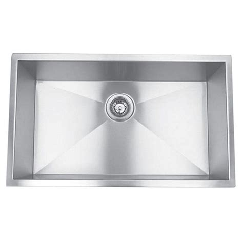 Single Bowl Stainless Steel Kitchen Sink Y Decor Hardy Undermount Stainless Steel 32 In Single Bowl Kitchen Sink Hagra3219c The Home Depot