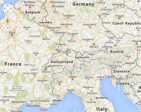 map of southern germany and switzerland switzerland photo gallery europe