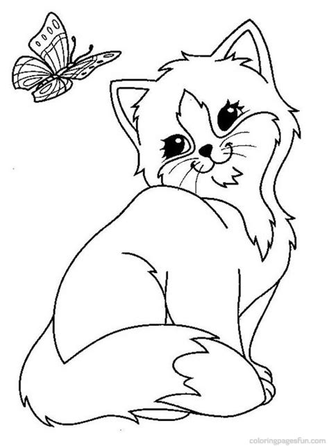 coloring pictures cats kittens cats and kitten coloring pages 34 kids pinterest