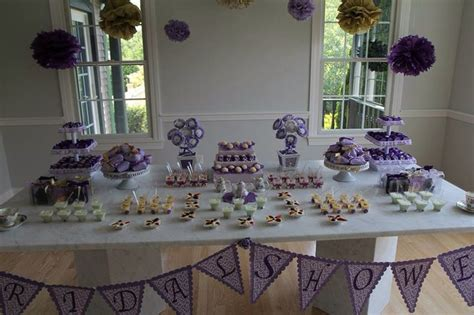 Purple Bridal Shower Decorations by Purple Theme Bridal Shower Bridal Shower