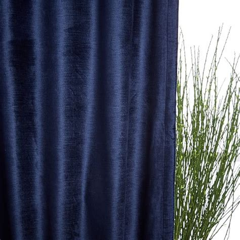 west elm velvet curtains cotton luster velvet curtain nightshade west elm