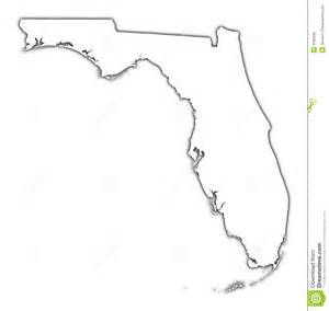 florida state map outline florida outline map with shadow royalty free stock image