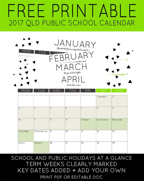 printable calendar queensland 2016 2017 qld public school holidays calendar maxabella loves