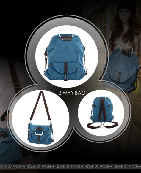 Iconic 3 Way Bag Korean Korea Style Fashion Impor Unik Grosir Ac korean fashion 3 way bag shoulder sling backpack handbag