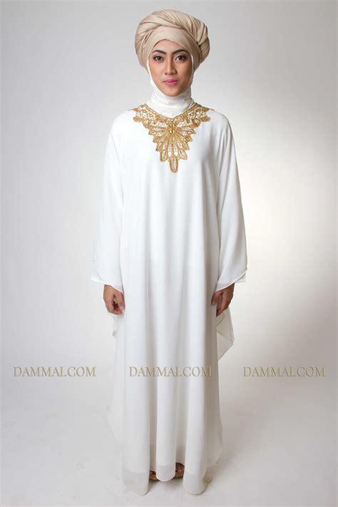 kaftan muslim golden white kaftan muslim dammai