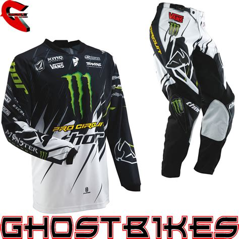 monster energy motocross gloves thor 2013 phase s13 youth pro circuit monster energy