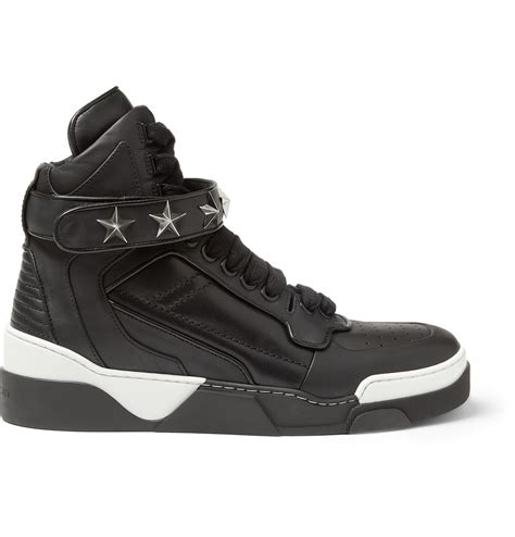 givenchy sneakers givenchy tyson hightop leather sneakers with in