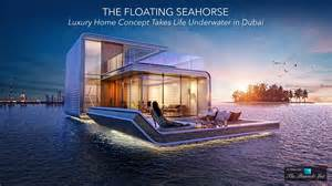the floating seahorse luxury home concept takes life
