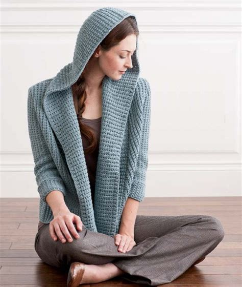 pattern hooded cardigan osprey hooded cardigan knitting pattern download