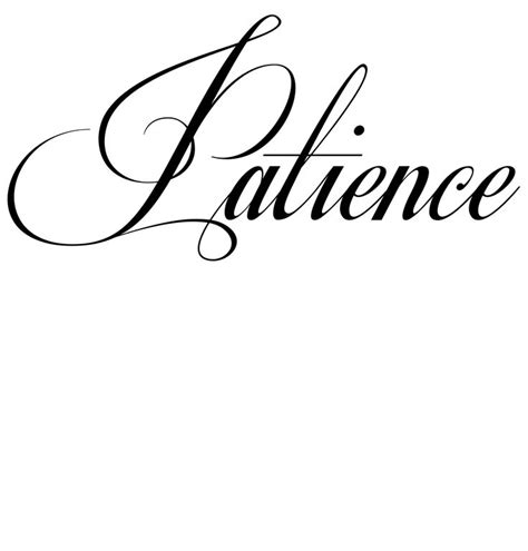 patience tattoo 25 best ideas about patience on small