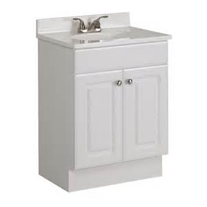 24 Bathroom Vanity With Top Shop Project Source White 24 5 In Integral Single Sink Bathroom Vanity With Cultured Marble Top