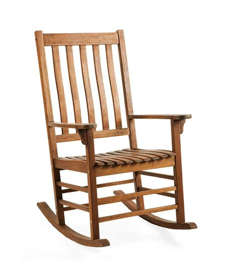 slatted wooden rocking chair   fsc certified eucalyptus natural stain  ebay