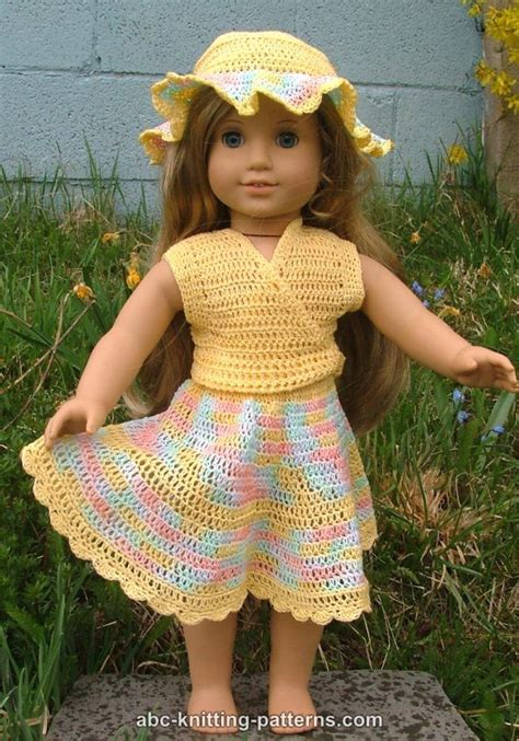 free knitting patterns for dolls hats abc knitting patterns american doll buttercup hat