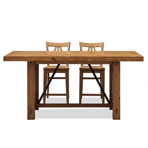 counter height trestle table riverside summerhill trestle counter height dining table