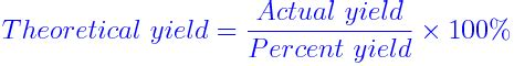 theoretical yield formula | theoretical yield formula