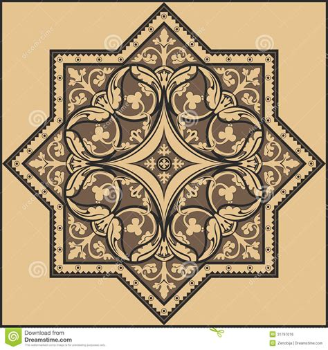 Traditional Floral Ornament Pattern Stock Vector Image 31797016 Ornament Stencil Template