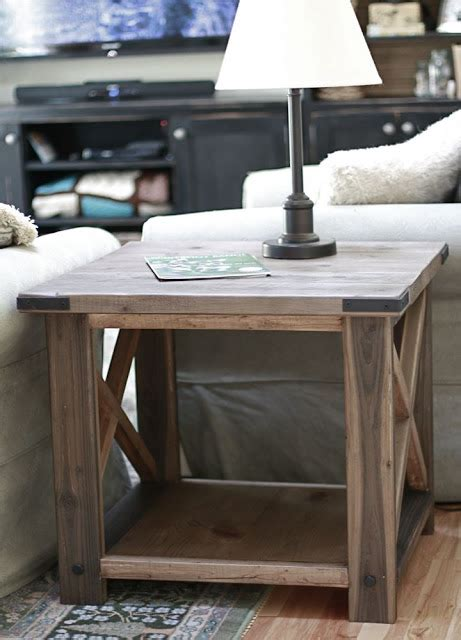 ana white step up side table diy projects ana white rustic x end table diy projects