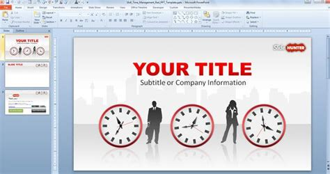ppt templates for time management free download free time management widescreen template for powerpoint 16 9