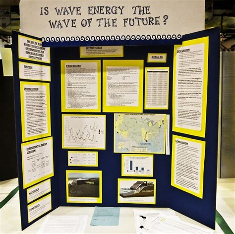 Science Fair Project Displayed On An Elmer S Tri Fold Display Board School Pinterest Tri Fold Presentation Board Templates