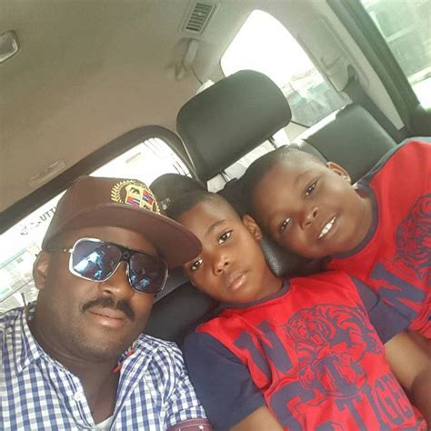 photos meet nollywood actor desmond elliot his wife and desmond elliot shares new pictures with his twin boys
