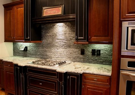kitchen splash black slate back splash traditional kitchen atlanta