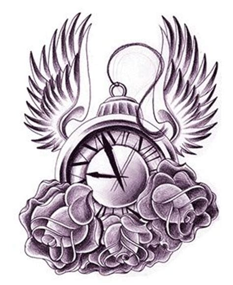 urban ink tattoo designs ink designs clock wings design by