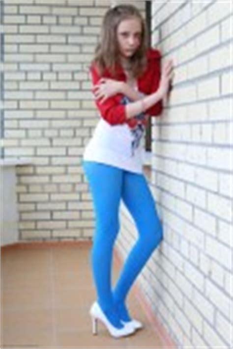viper silver starlets girls silver starlets violette blue pantyhose