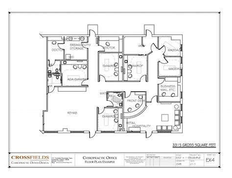 floor plan of office chiropractic clinic floor plans
