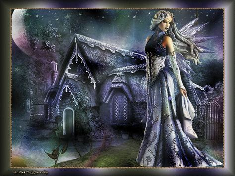 imagenes goticas brillantes una hermosa hada envuelta en t 233 nues luces de colores