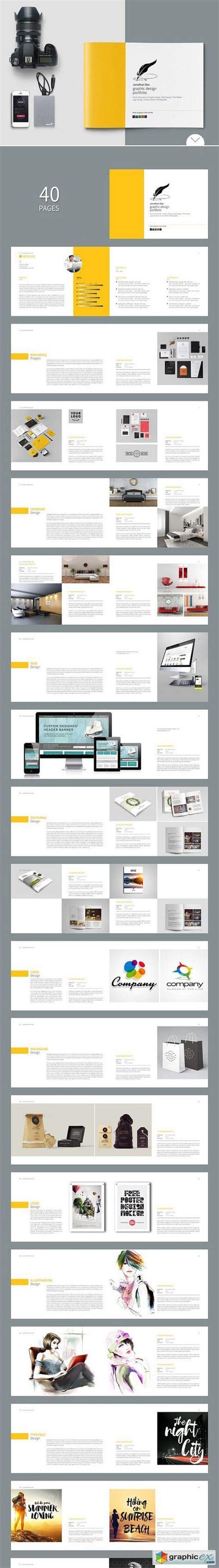 graphic design portfolio template 998430 187 free download