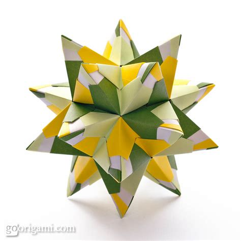 origami of chandelle kusudama by sinayskaya diagram go origami