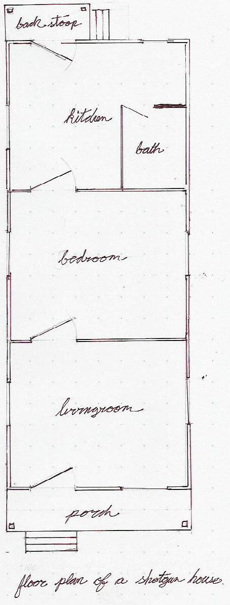 shotgun house plan the new orleans shotgun house archid