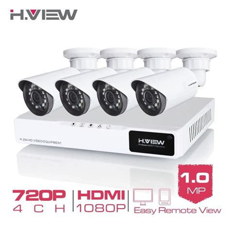 Paket Cctv 4ch 1200 Tvl Disk 1 h view 4ch cctv system 720p hdmi ahd cctv dvr 4pcs 1 0 mp ir outdoor security 1200 tvl
