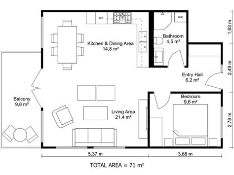 2 bedroom floor plans roomsketcher floor plans roomsketcher