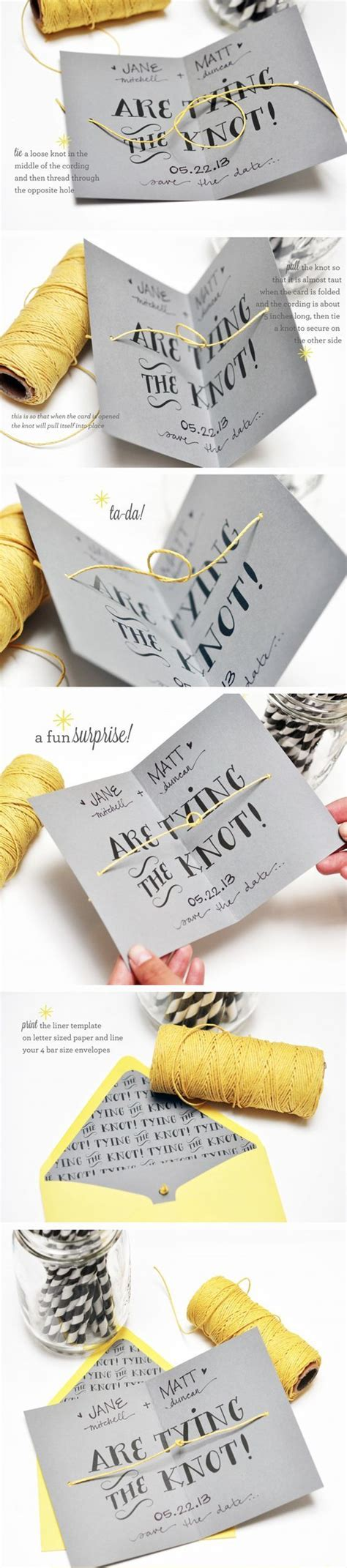 Make Unique Wedding Invitations by 50 Unique Diy Wedding Invitation Ideas 187 Make Me Happy