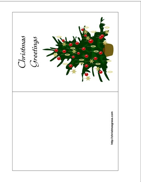 printable christmas cards foldable holiday greeting card with christmas tree