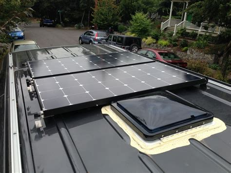living on one solar panel solar power for our sprinter cer was a top priority